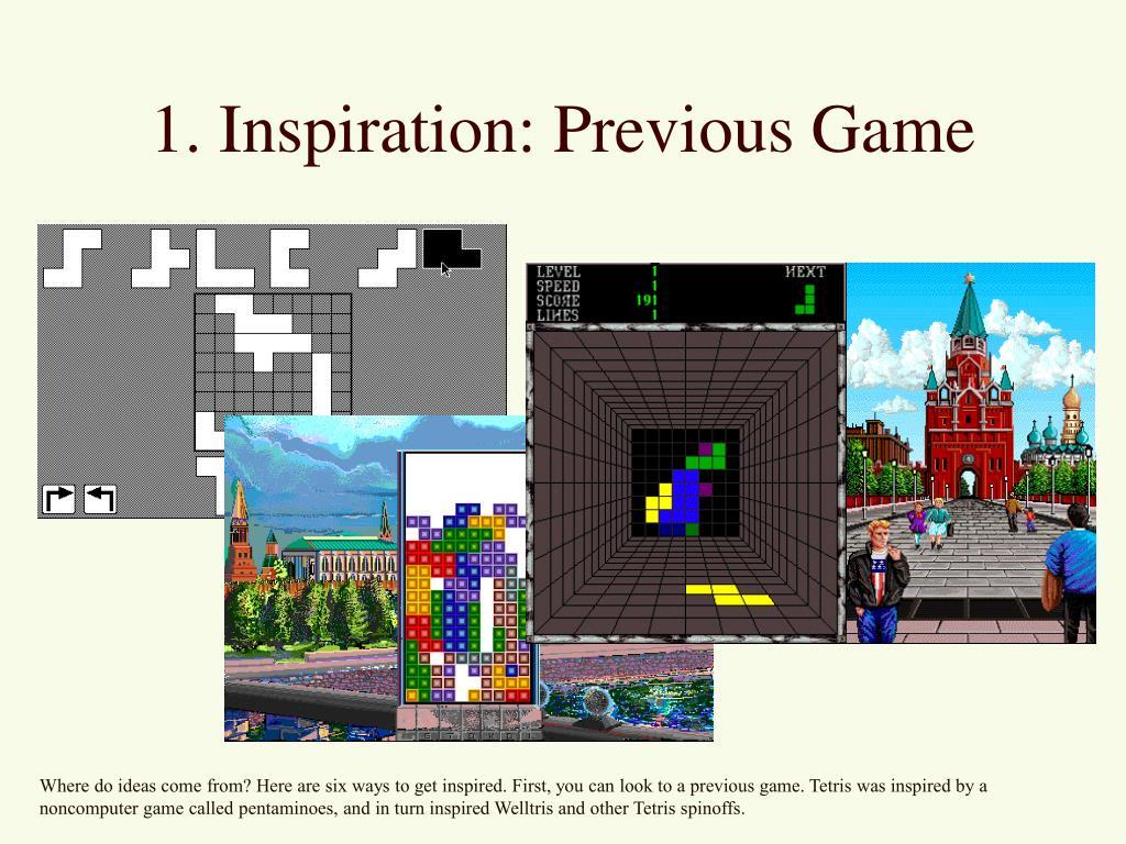 1. Inspiration: Previous Game