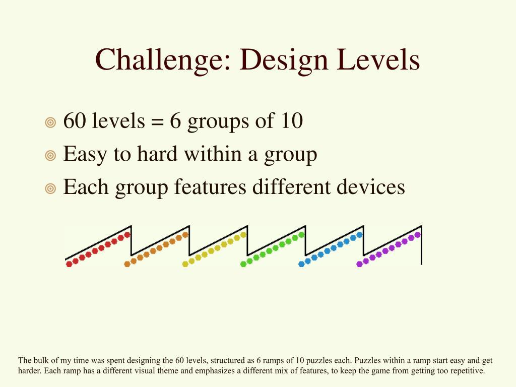 Challenge: Design Levels
