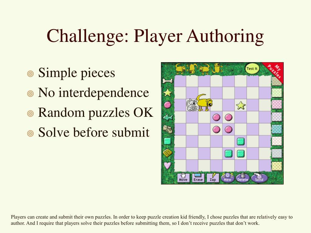 Challenge: Player Authoring