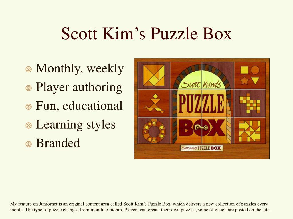 Scott Kim's Puzzle Box
