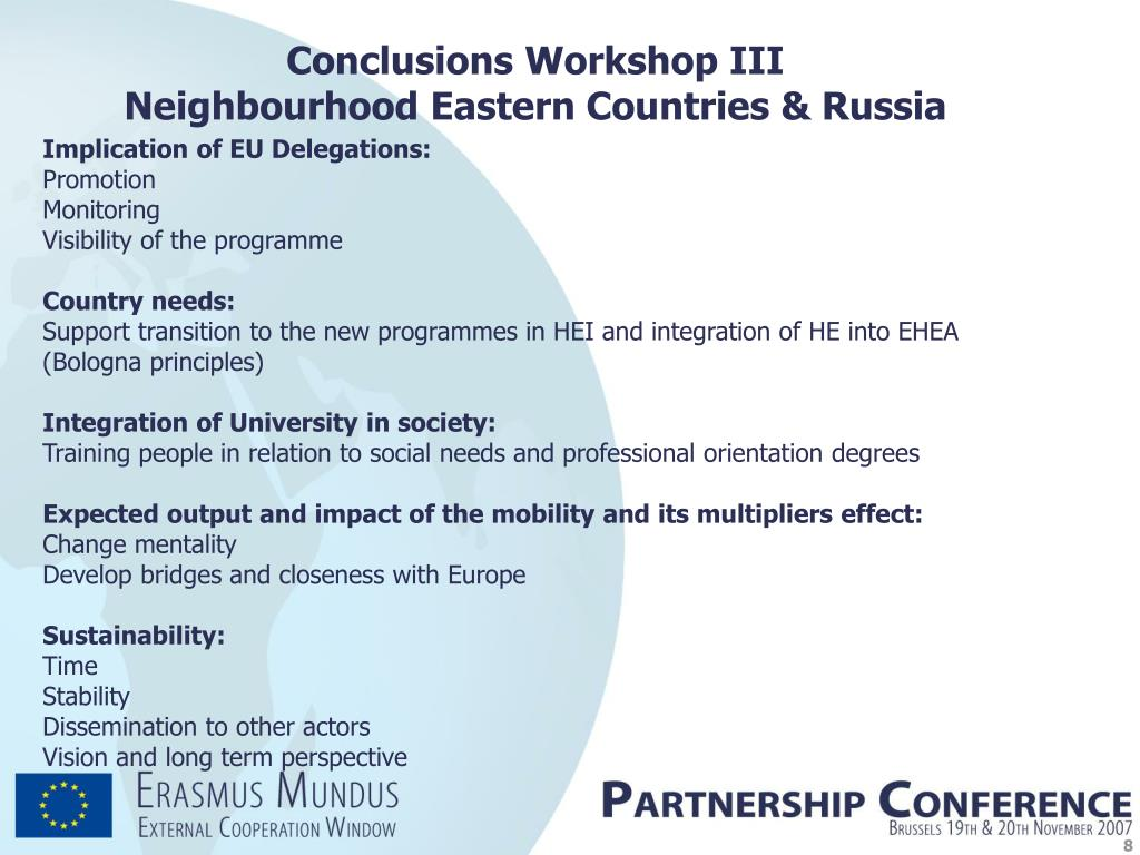 Conclusions Workshop III