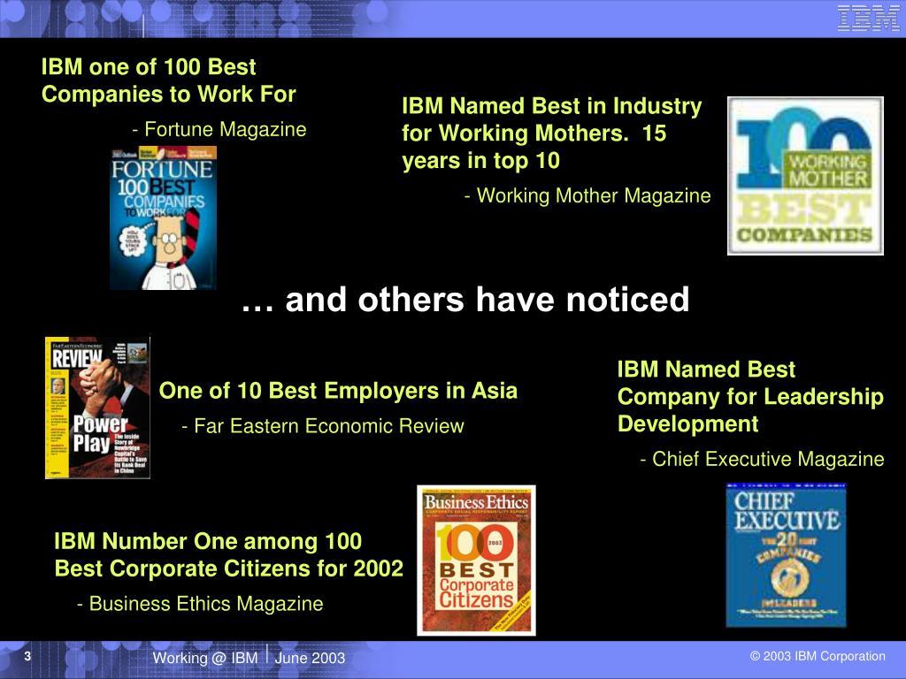 IBM one of 100 Best