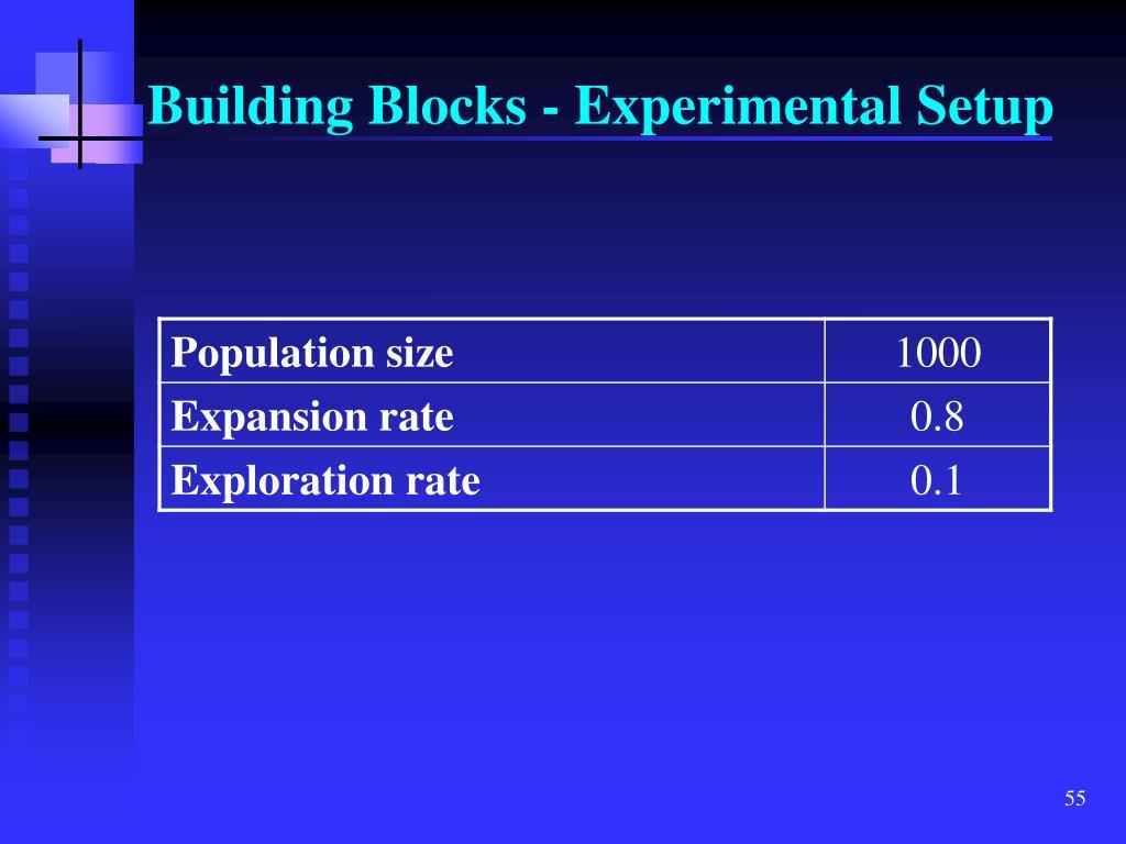 Building Blocks - Experimental Setup