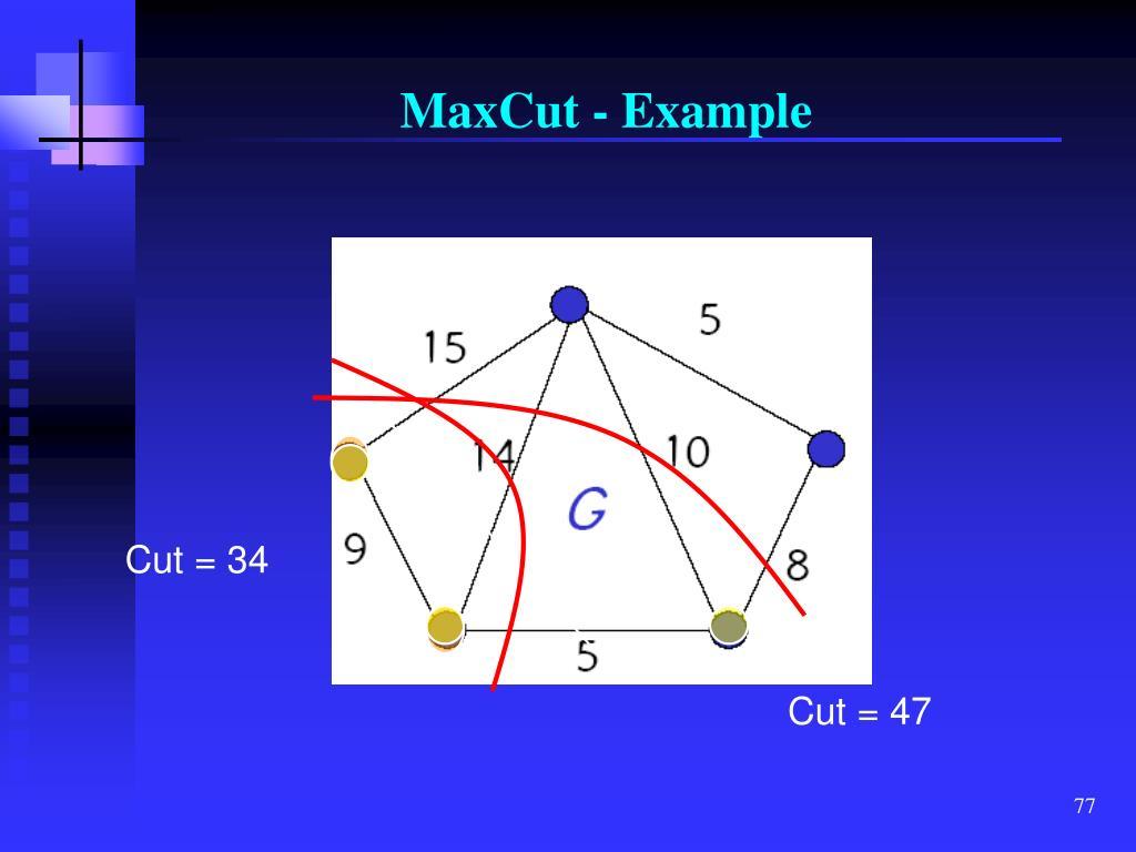 MaxCut - Example