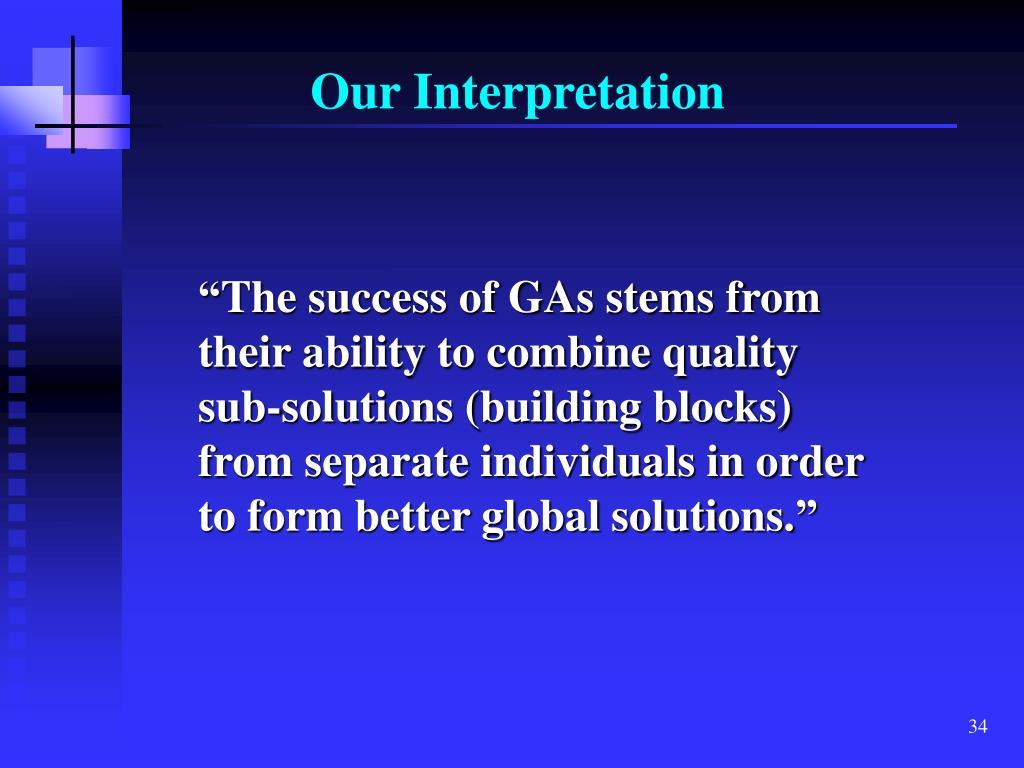 Our Interpretation