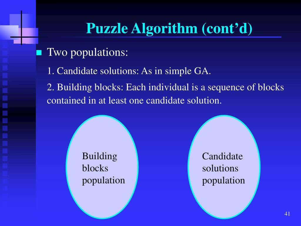 Building blocks population