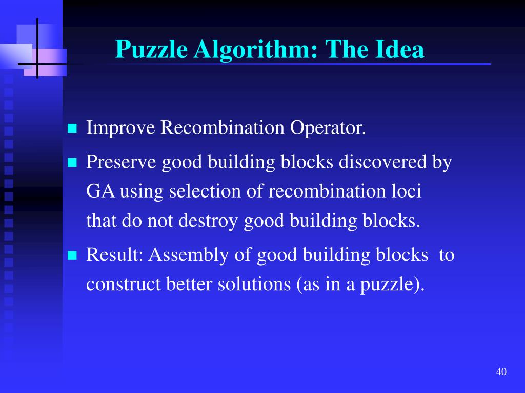 Puzzle Algorithm: The Idea