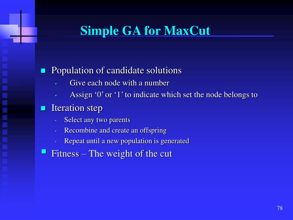 Simple GA for MaxCut