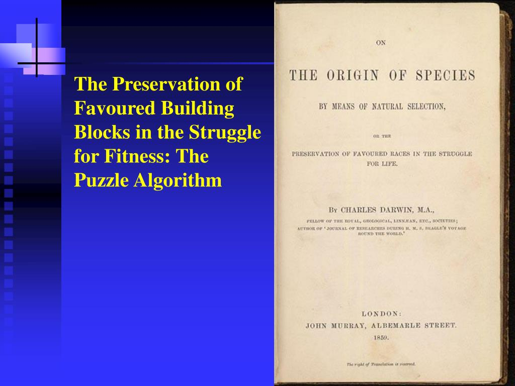 The Preservation of Favoured Building Blocks in the Struggle for Fitness: The Puzzle Algorithm