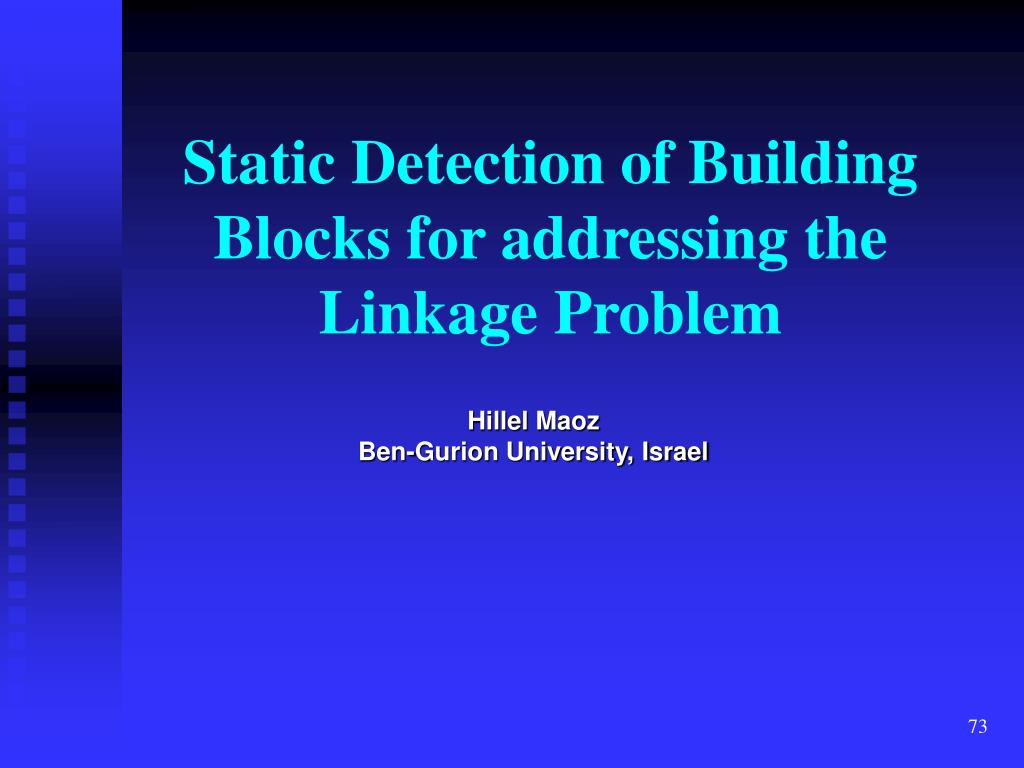 Static Detection of Building Blocks for addressing the Linkage Problem