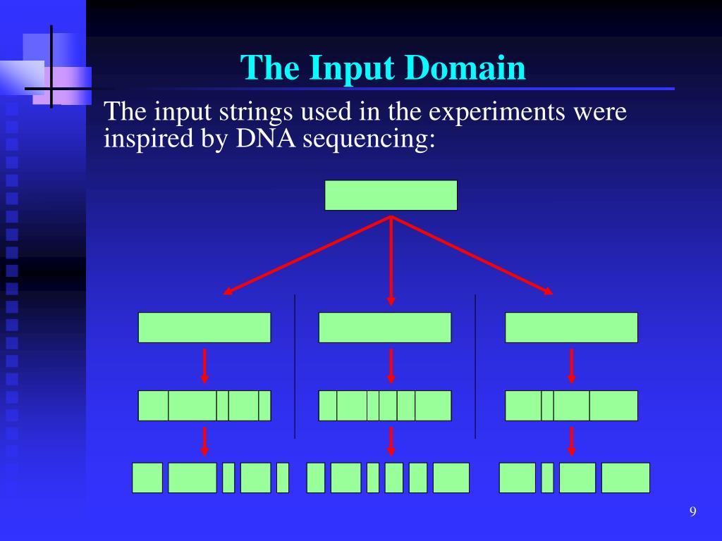 The Input Domain