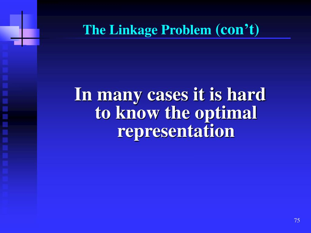 The Linkage Problem