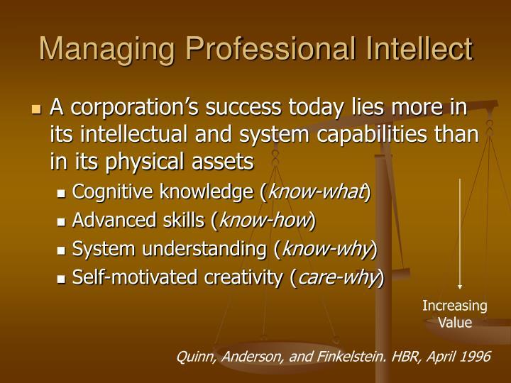 Managing Professional Intellect