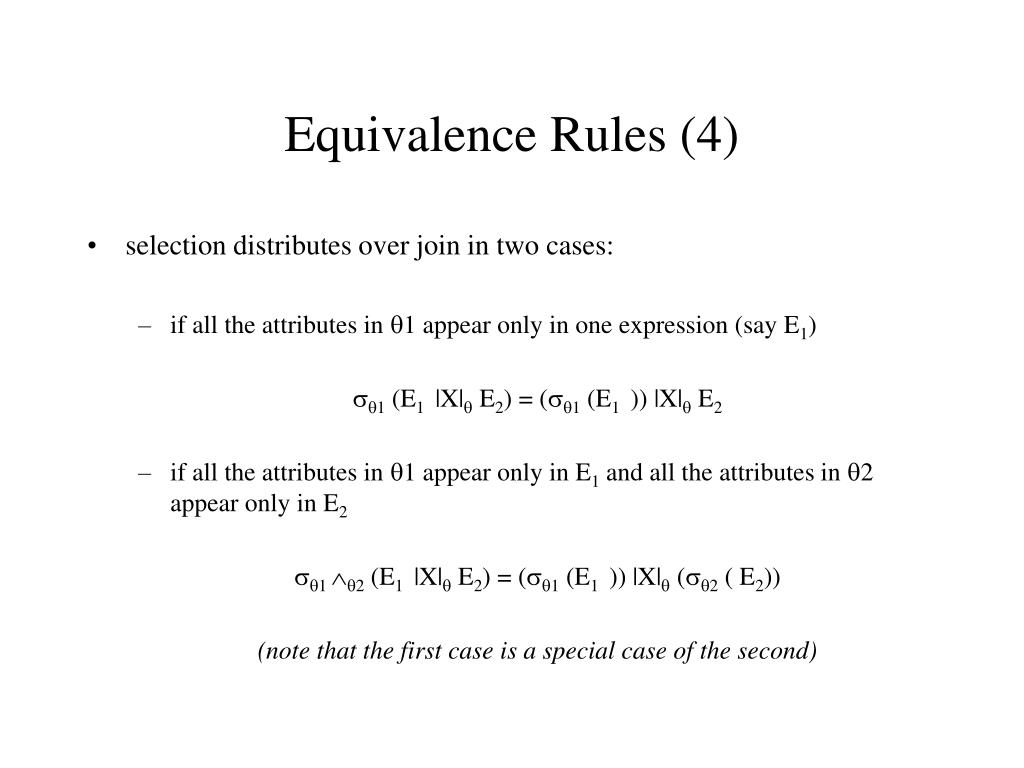 Equivalence Rules (4)