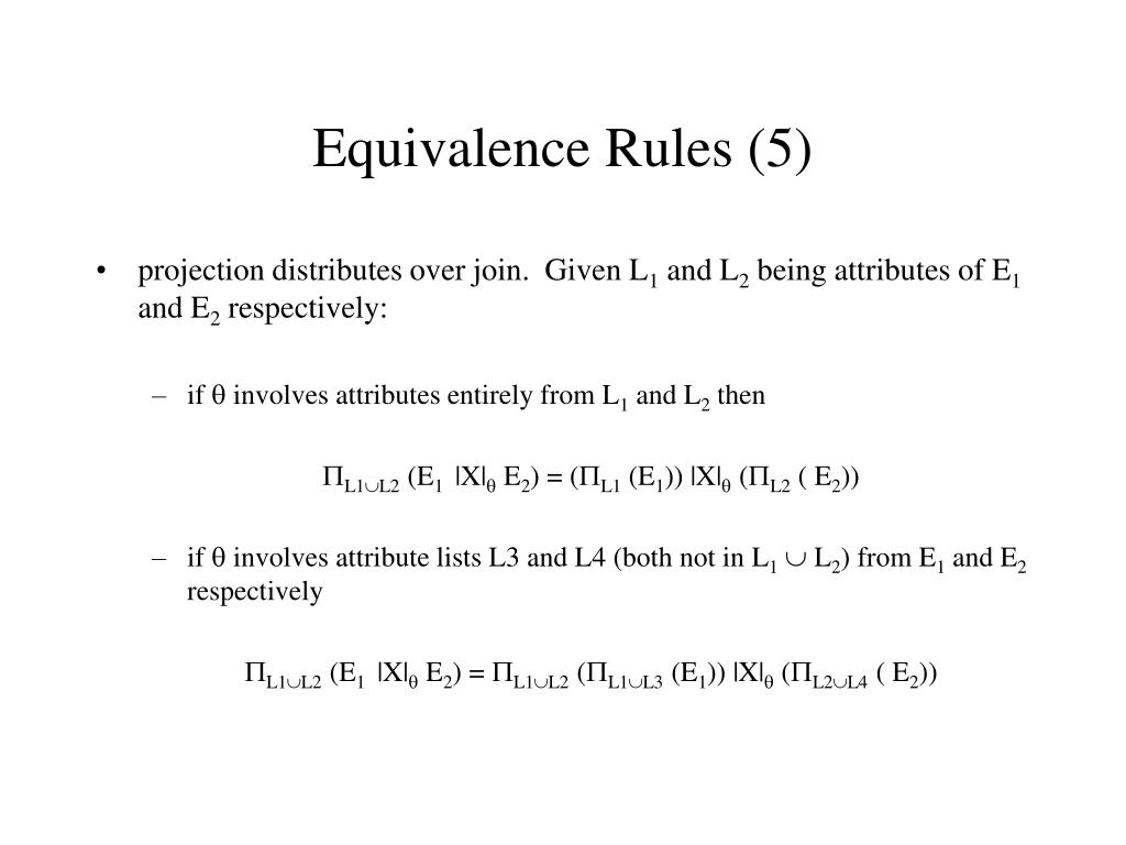 Equivalence Rules (5)