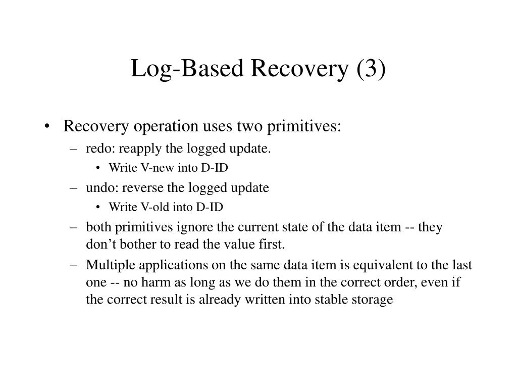 Log-Based Recovery (3)