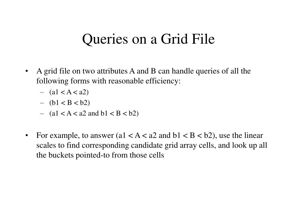 Queries on a Grid File