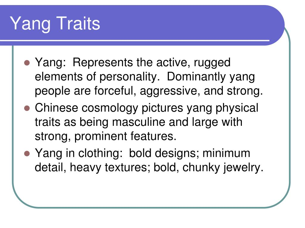 Yang Traits