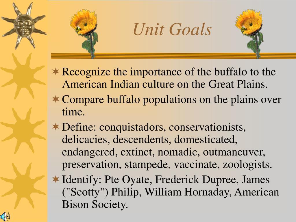 Unit Goals