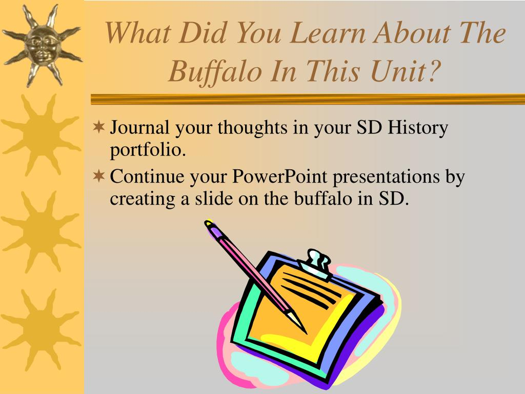 What Did You Learn About The Buffalo In This Unit?