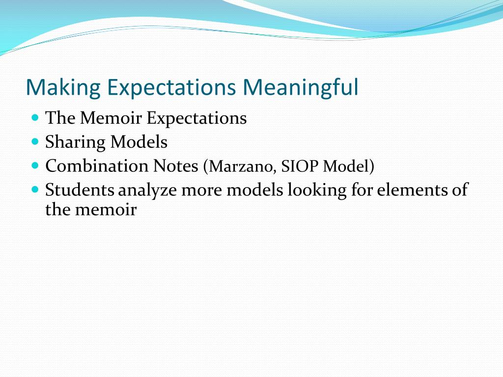 Making Expectations Meaningful