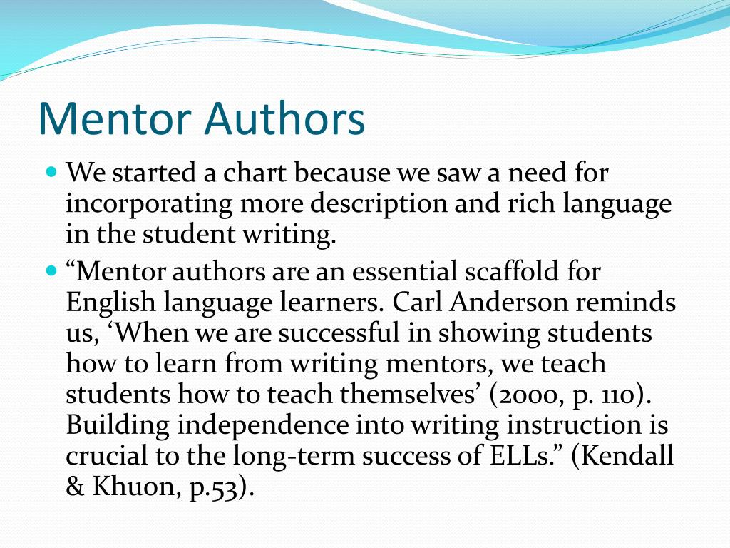 Mentor Authors