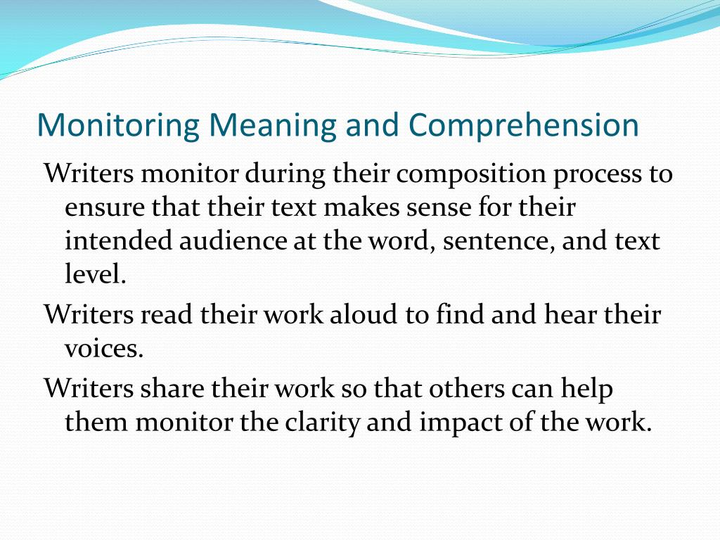 Monitoring Meaning and Comprehension