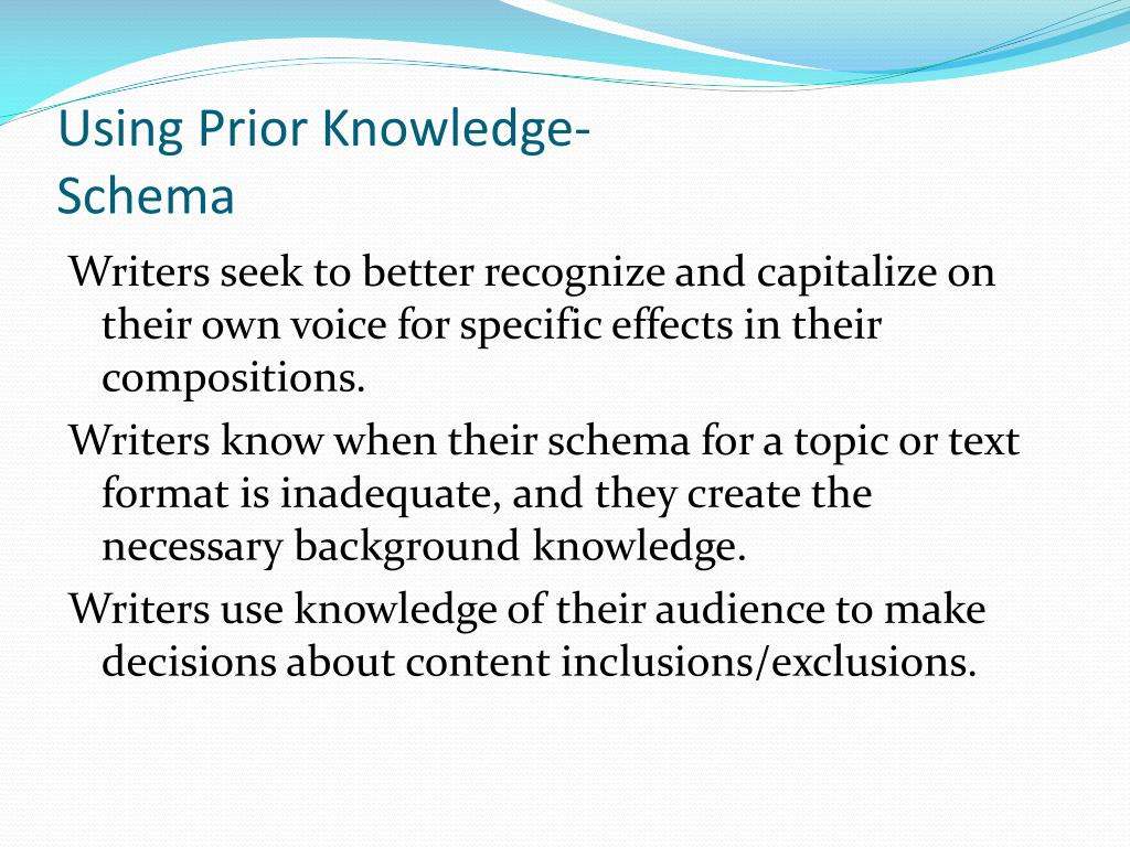 Using Prior Knowledge-