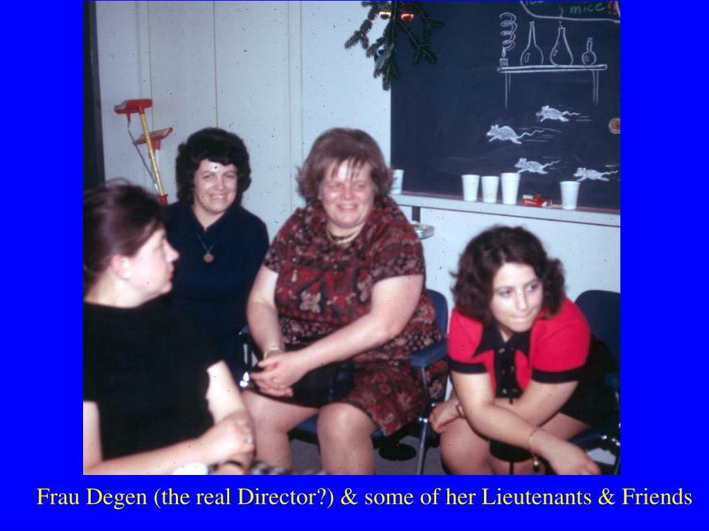 Frau Degen (the real Director?) & some of her Lieutenants & Friends