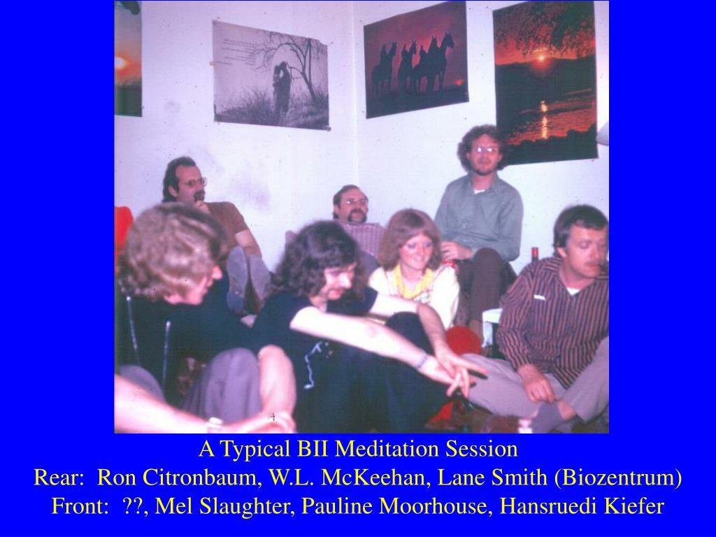 A Typical BII Meditation Session