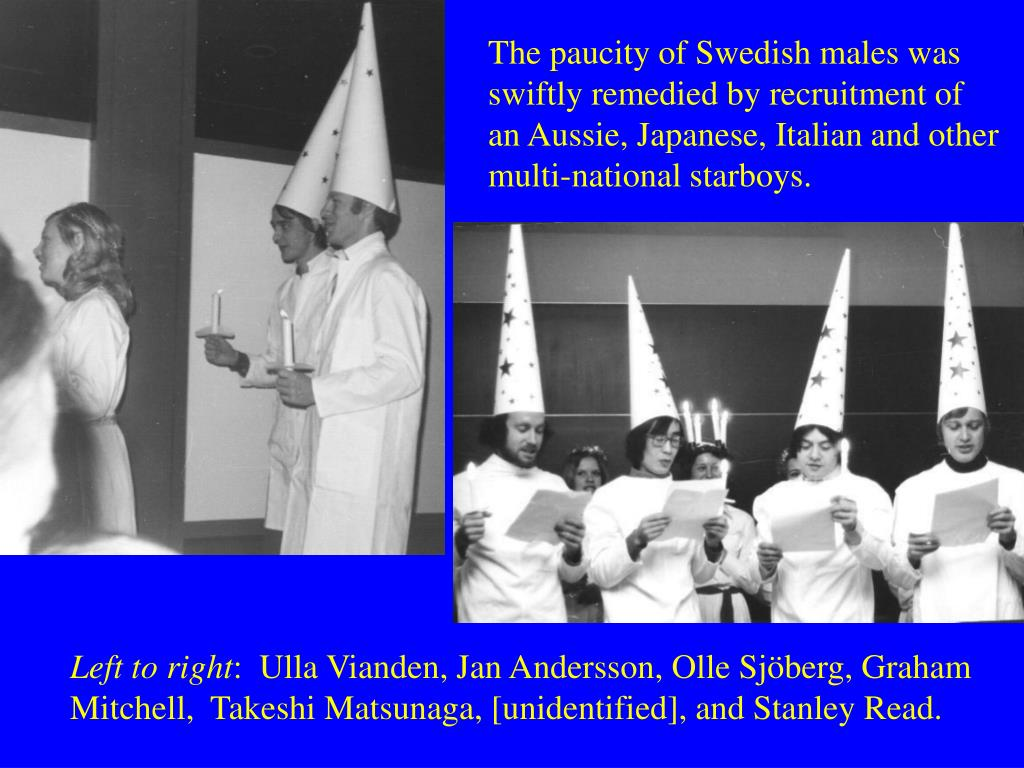 The paucity of Swedish males was