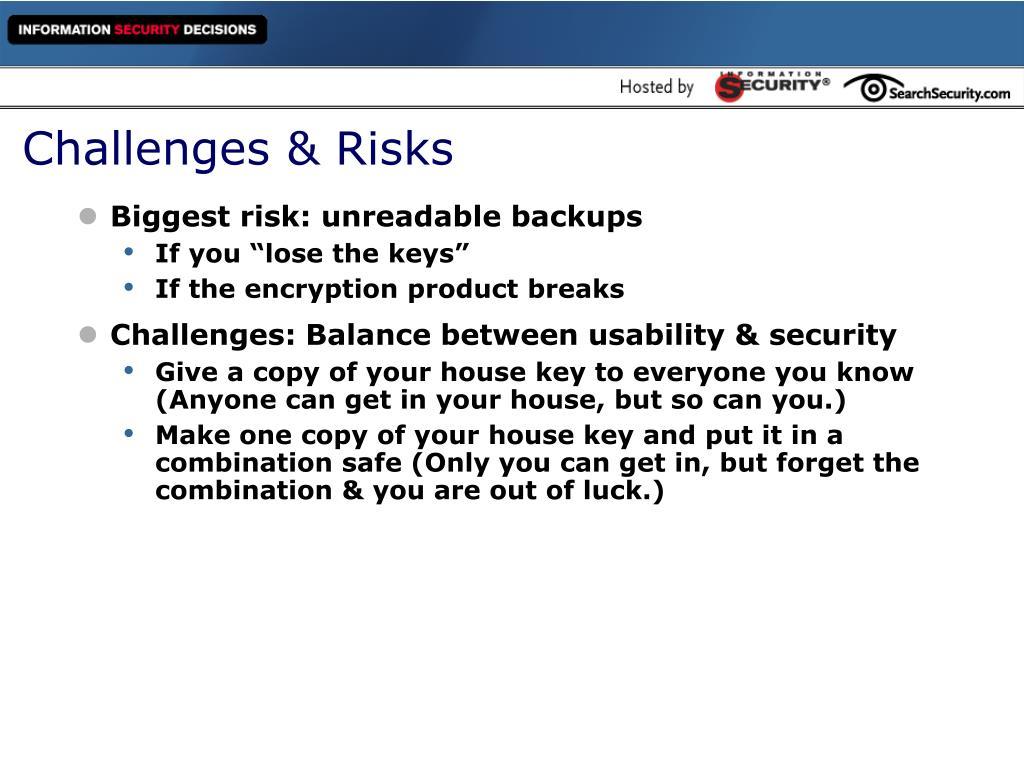 Challenges & Risks