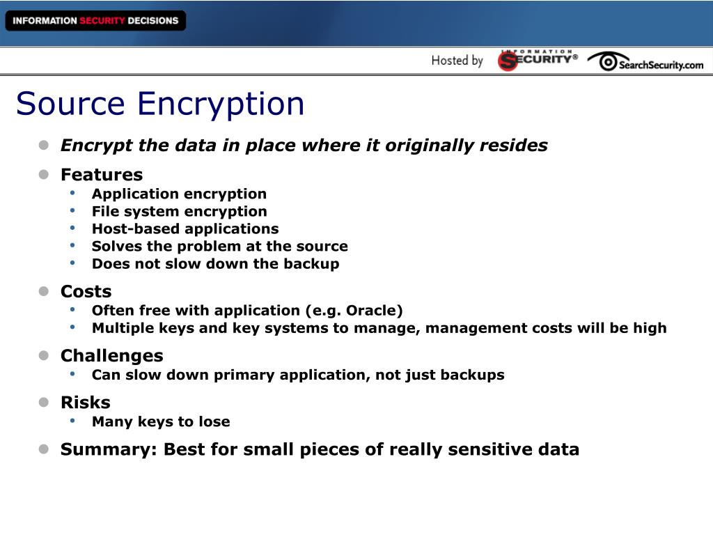 Source Encryption