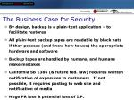 the business case for security6