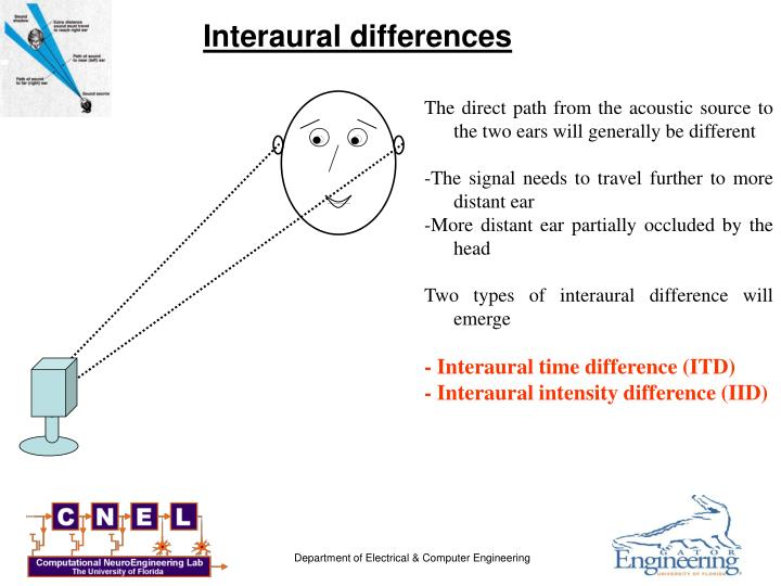 Interaural differences