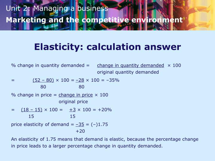 Elasticity: calculation answer