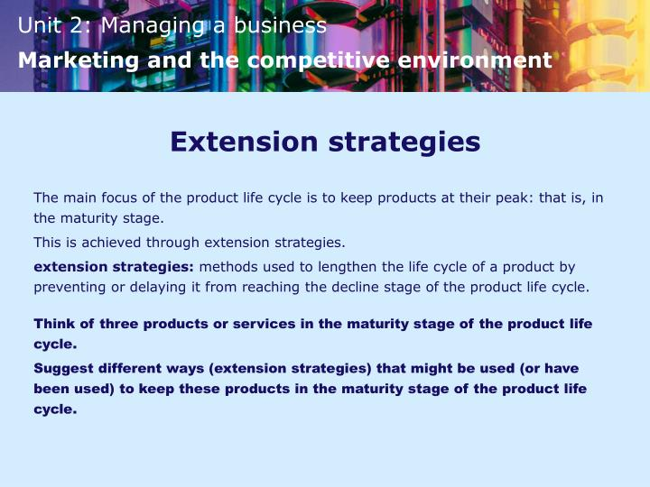 Extension strategies