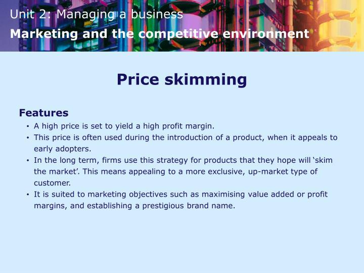 Price skimming