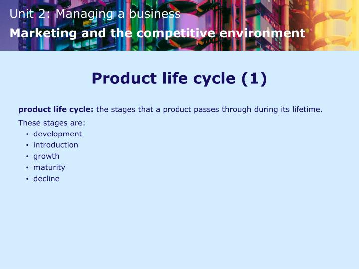 Product life cycle (1)
