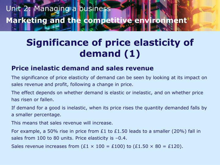 Significance of price elasticity of demand (1)