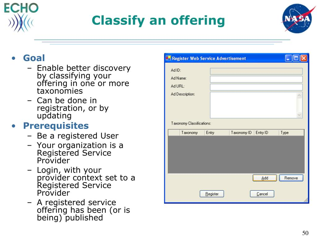Classify an offering