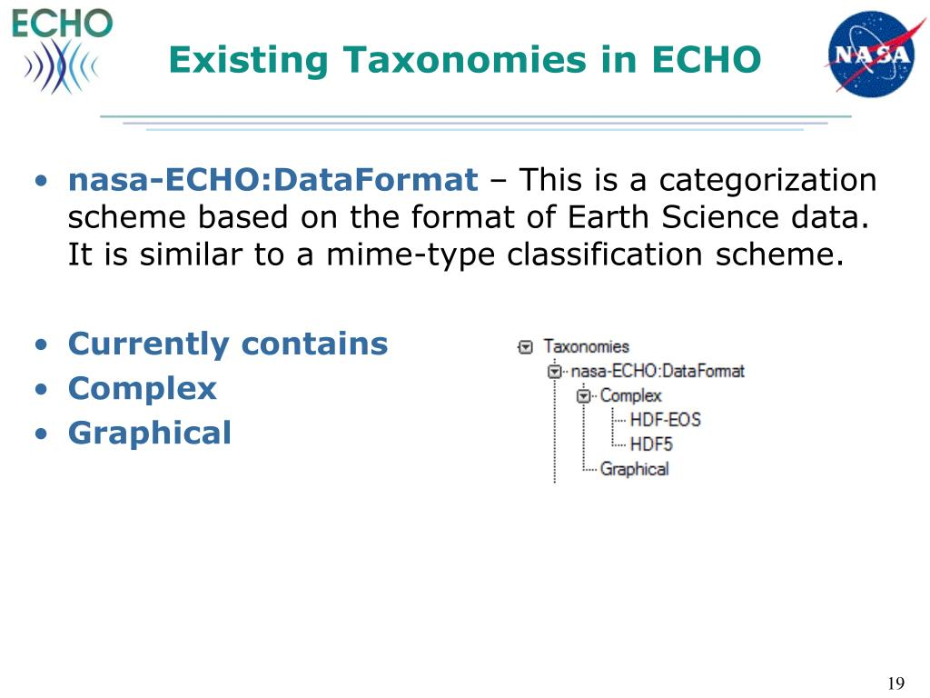 Existing Taxonomies in ECHO