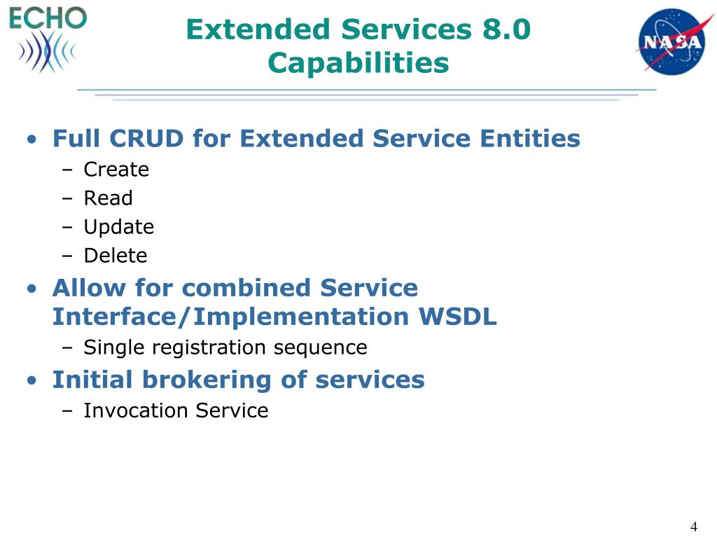 Extended Services 8.0 Capabilities