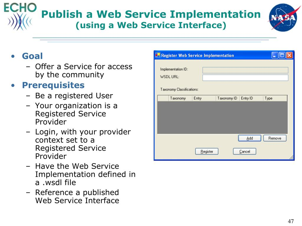 Publish a Web Service Implementation