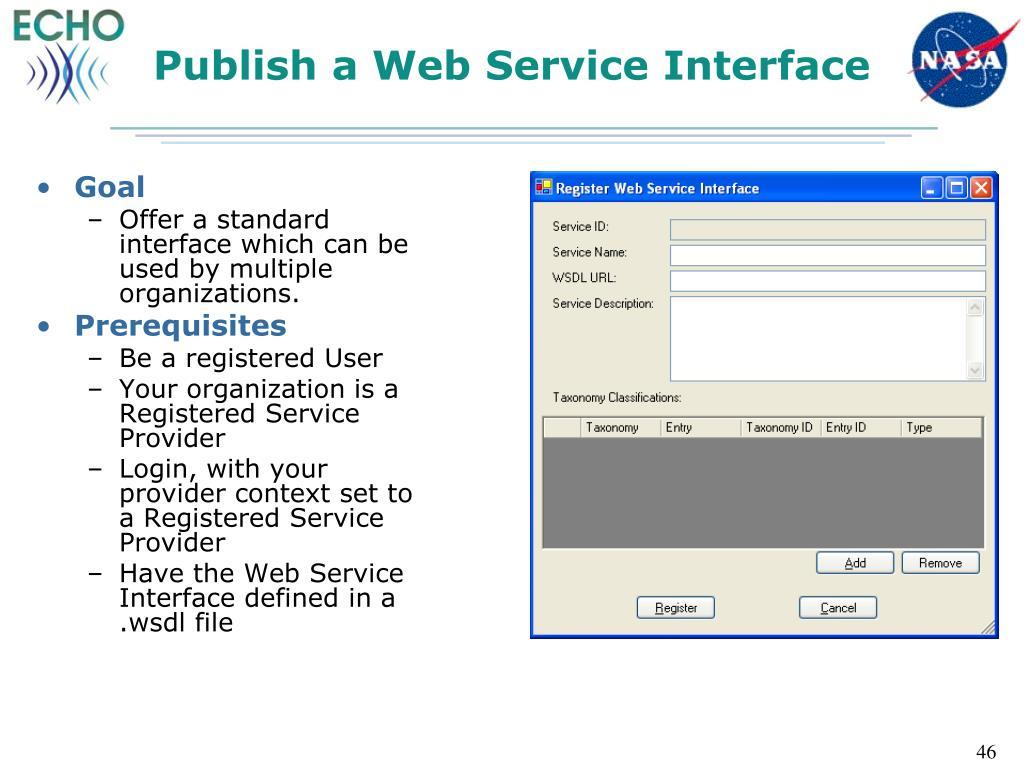 Publish a Web Service Interface