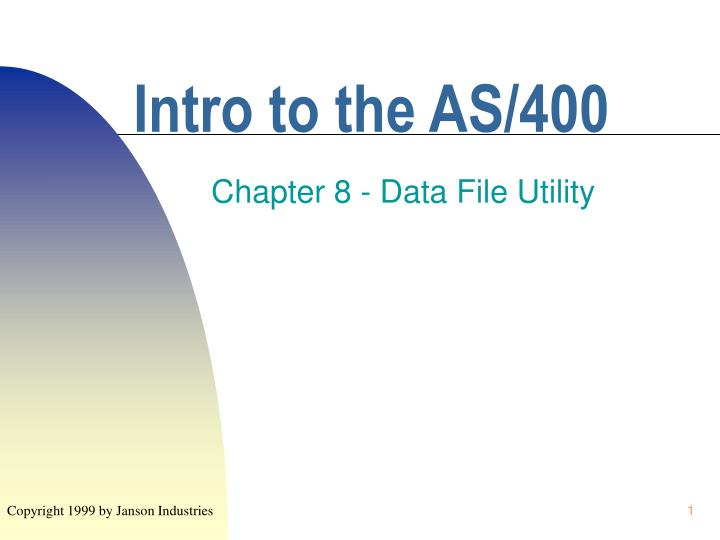 Intro to the as 400