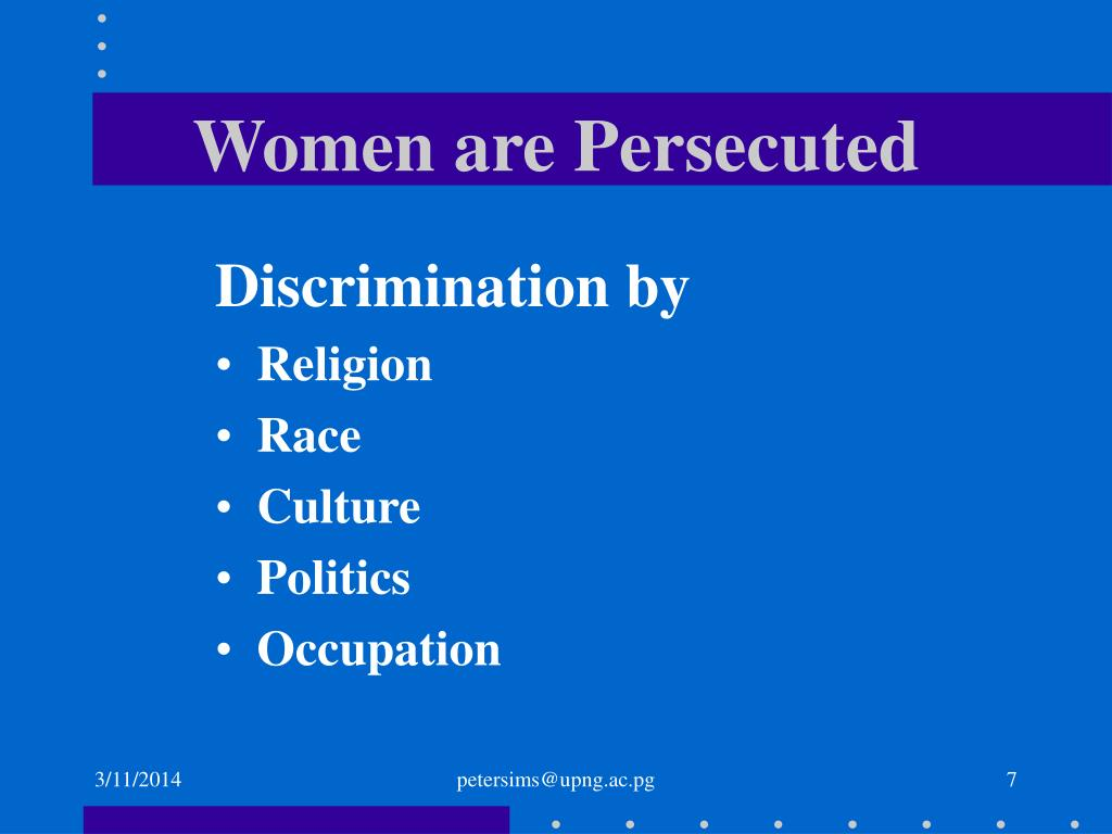 Women are Persecuted