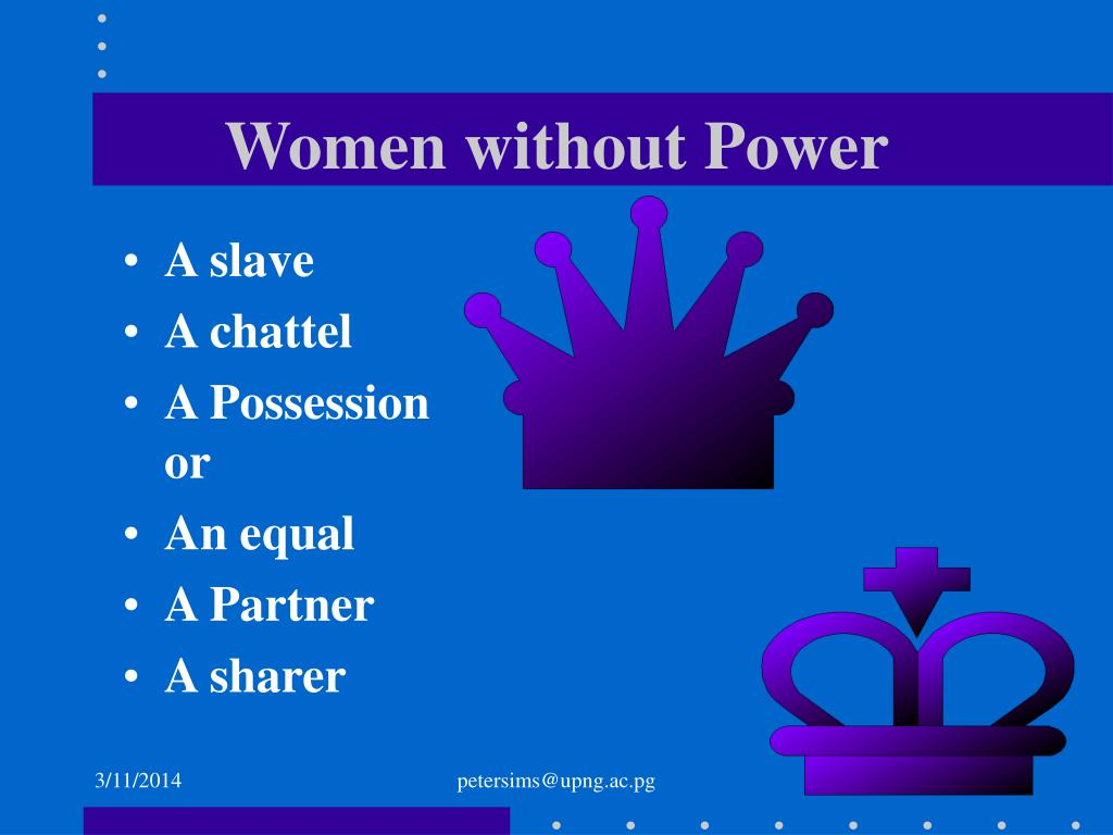 Women without Power