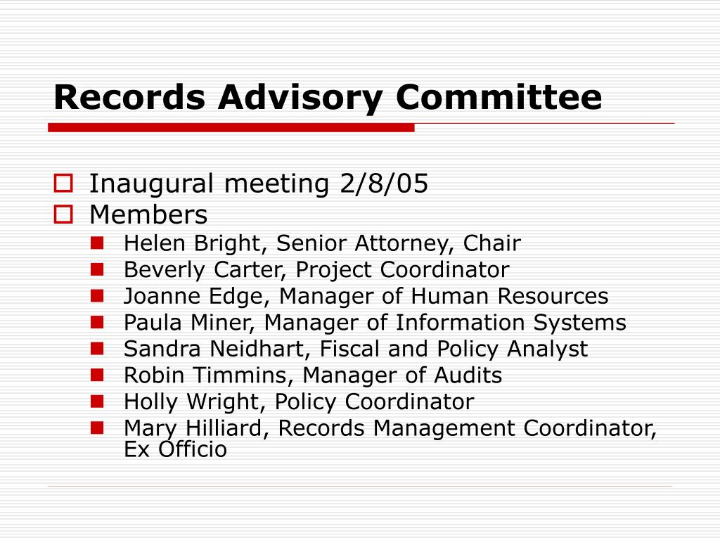 Records Advisory Committee