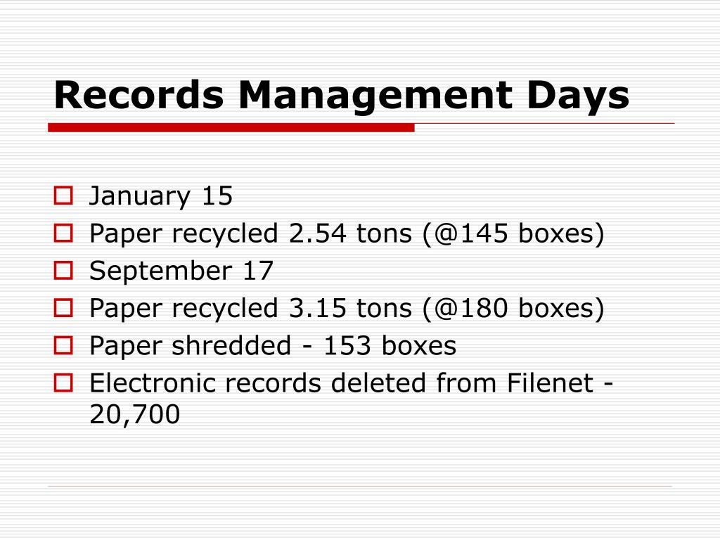 Records Management Days